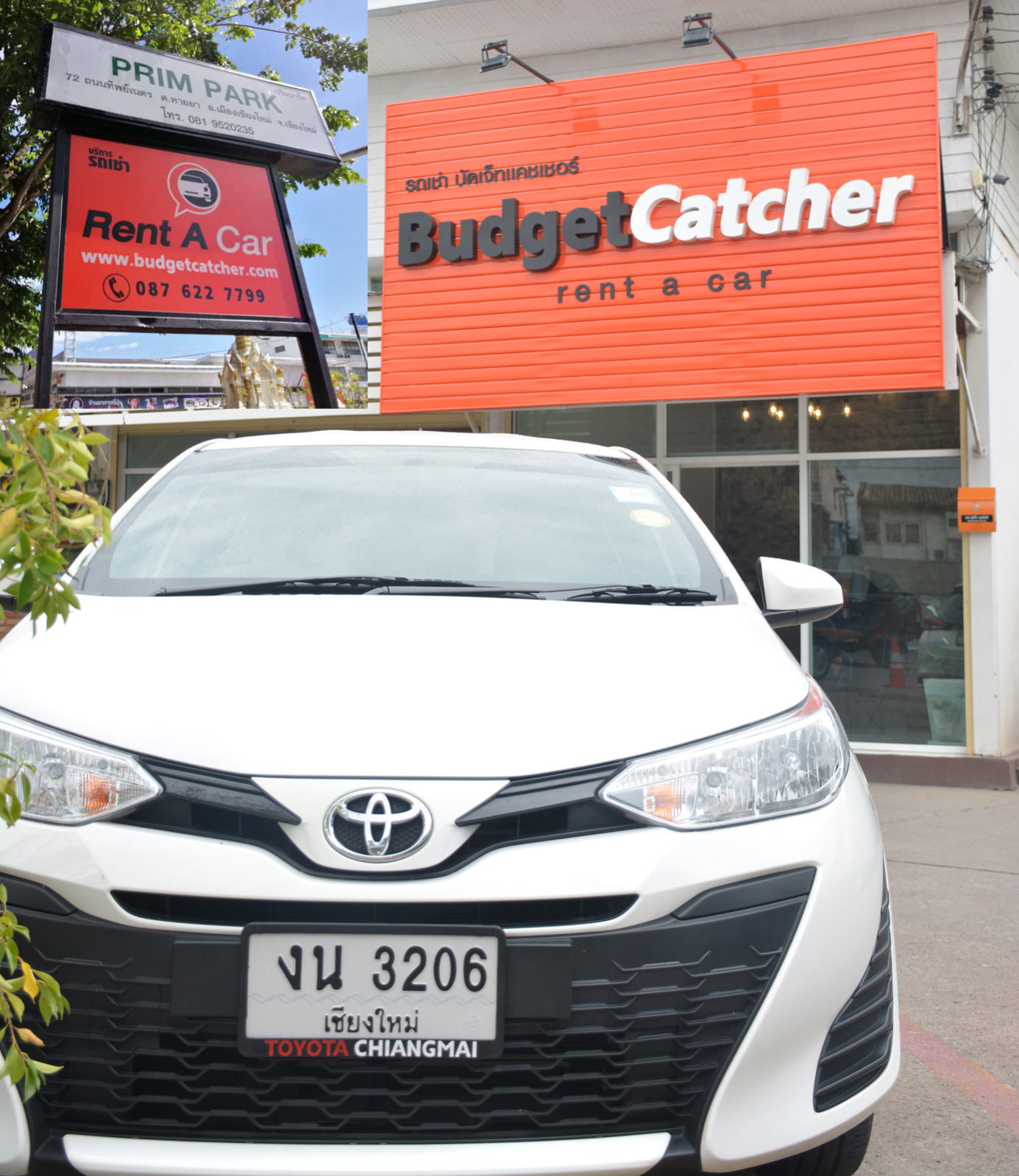Budgetcatcher Rent a Car new office located in Chiangmai
